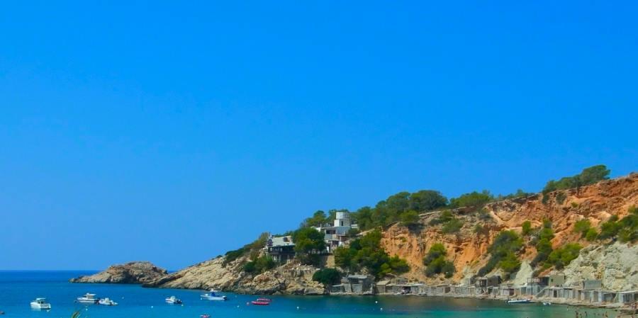 Ibiza i västra medelhavet